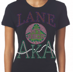 LANE COLLEGE/AKA- MY HBCU BLACK Chapter Bling T-Shirt (Sizes small - x-large)