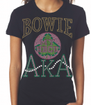 BOWIE STATE U/AKA- MY HBCU BLACK Chapter Bling T-Shirt (Sizes small-x-large)