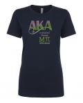 Initiated at MU PI BLACK Chapter Bling T-Shirt (Sizes 2x-large-3x-large)