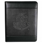 AKA Debossed Shield Zippered Padfolio-BRAND NEW