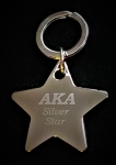 AKA SILVER STAR KEY CHAIN -ENGRAVED